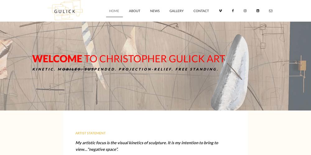 Reb Dev & Design | Website Screenshot | Christopher Gulick Art